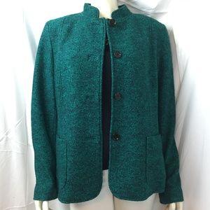 Talbots 16 boiled wool/viscose blazer
